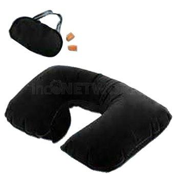 harga Smart Inflatable Travel Pillow Set Air Bantal Leher Penutup Mata Telinga Hitam Lazada.co.id