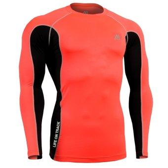 Life On Track Mens Base Layer Compression Long Sleeves Fashion Tights MMA GYM Crossfit Running Yoga Under Wear Male T-Shirts (Intl)