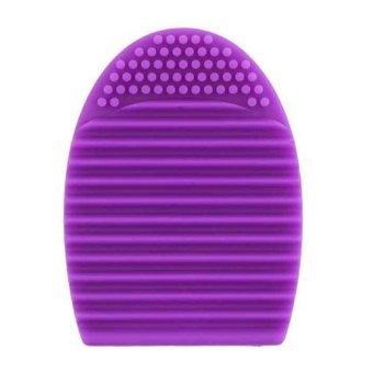 AIUEO - Brush Egg Cleaning Brush Tool Beauty Makeup Tools - Ungu