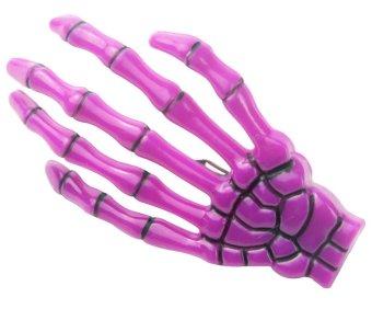 louiwill Fashion Punk Rock Devil Skeleton Hand Claw Hair Clips (Purple ,1pc) (Intl)