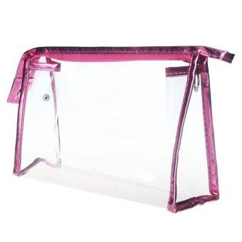 Coconie Clear Waterproof Storage Makeup Bags Hot Pink Free Shipping - Intl