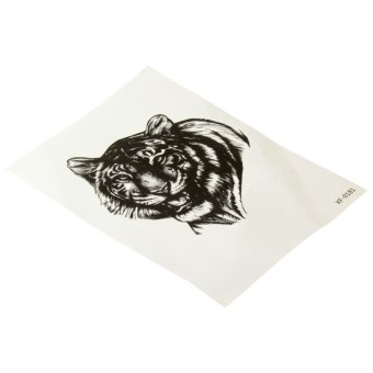 Cool Men Tiger Arm Leg Temporary Tattoo Body Tattoo Sticker (Intl)