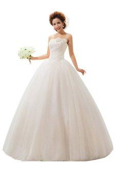 Ball Gown Strapless Sleeveless Sweep/Brush Wedding Dress - Intl