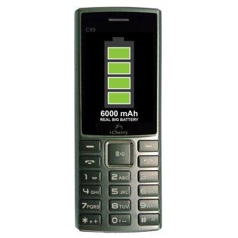 Icherry C89 King Powerbank Phone - 6000mAh - Abu-abu