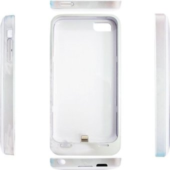 Rapid Power Bank Case Iphone For 5/5S/5C DF 204 W - 2200 mAh - White