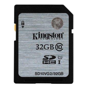 harga Kingston SDHC Secure Digital High Capacity 32GB Class 10 45MB/s SD Memory Card for Digital Camera DSLR Canon, Nikon, Sony - Black Lazada.co.id