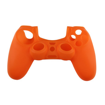 Silicone Rubber Soft Case Skin Cover for PS4 Controller Grip Handle Orange (Intl)