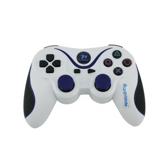 Wireless Controller for PS3 PlayStation dual shock White (Intl)
