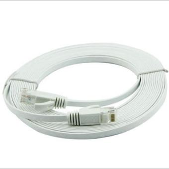 8m Ultra-Thin Flat Cable Patch Network Internet Cat.6 UTP (White) - INTL