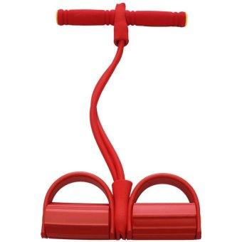 Andux Pedal Bodybuilding Fitness Rally Expander Elastic Pull Rope Foot Abdomen Trainer JTLLQ-01 Red - INTL