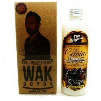Wak Doyok - Cream Penumbuh Jambang Herbal dan Shampo caviar 250ml