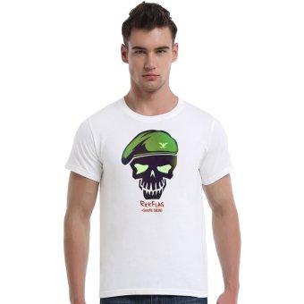 Suicide Squad Rick Flag Cotton Soft Men Short T-Shirt (White) - Intl