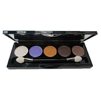 Gracefulvara 5 Colors Women's Eye Shadow Shimmer Palette Cosmetic Set With Mirror & Brush
