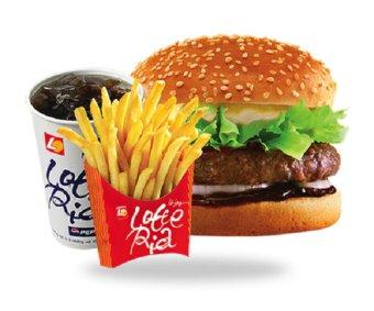Lotteria Bulgogi Burger Set