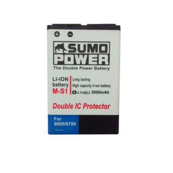Li-ion Baterai Blackberry M-S1 Double Power High Capacity 3000mAh for BlackBerry Onyx 9000/9700 - Putih terpercaya