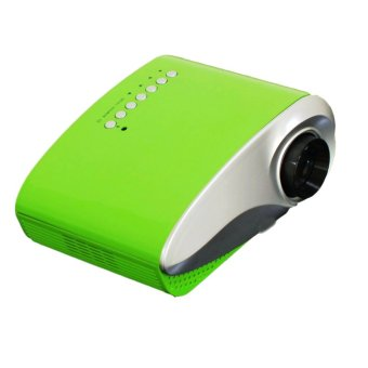 Portable Mini 802 1080P Multimedia LED Projector For Home Theater (Color: Green) - Intl