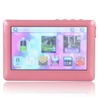 16GB 4.3 Inch Touch Screen MP3 MP4 MP5 Player (Rose Red)