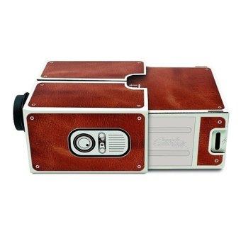 Universal Portable Cardboard Smartphone Projector 2.0 - Brown