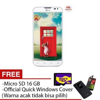 LG L90 Dual D410 - 8 GB - Dual SIM - Putih + Free Quick Windows Cover + Micro sd 16 GB