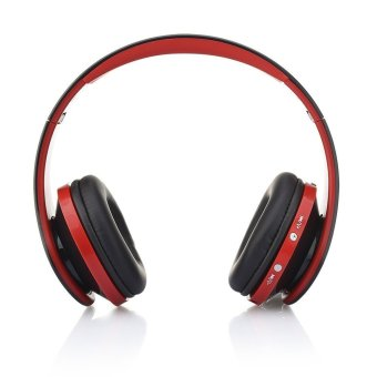 NX-8252 Wireless Stereo Bluetooth Headphones Foldable Sports Earphone Red - Intl