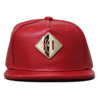 harga Hater Topi Gold Metal Lash Tab Metel Gothic On The Back - Merah Lazada.co.id