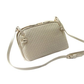 Women's Casual Handbag PU Cross Body Shoulder Tote Satchel Messenger Bag(Beige) (Intl)
