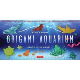 Periplus - Origami Aquarium Kit: Aquatic Fun for Everyone! - Origami Kit with 2 Full-Color Books of 20 Projects