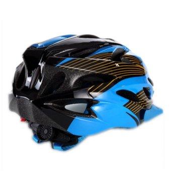 Protective Helmet Safety Helmet Unibody Cycling Helmet 016 (Blue)- Intl