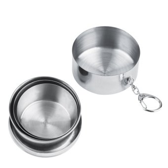 Allwin 8oz 240ml Stainless Steel Portable Folding Telescopic Collapsible Outdoor Cup (Intl)
