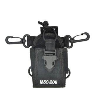 MSC-20B holder Case radio bag for Baofeng Kenwood Wouxun Radio Walkie Talkie VHF/UHF UV-5R UV-5RE UV-B5 For Motorola GP328+ (Intl)