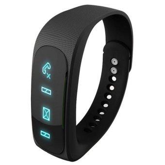 Wofalo E02 Bluetooth 4.0 Smart Sports Bracelet (Black) - Intl