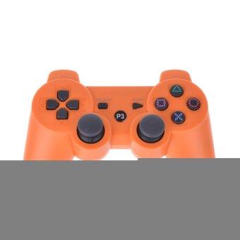 Wireless Dual Shock Six Axis Bluetooth Controller Orange (Intl)