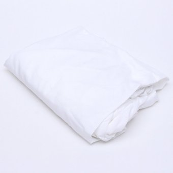 harga Flat Fitted Sheet Set Cotton Solid Color Bed Cover 180x200cm White Lazada.co.id
