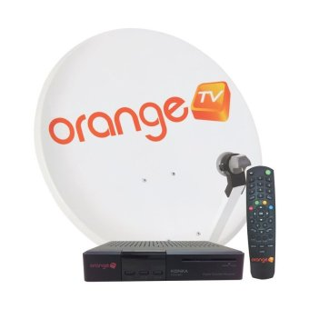 Orange TV Perangkat KU Band All Channel 3 Bulan - Hitam
