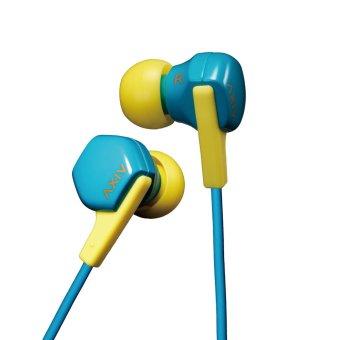 JVC HA-FX17 In-ear Stereo Clear Sound Noise Isolation Earphone Headphone - Blue Yellow