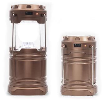 LAMP Multi Field Light Emergency Solar Latern / Lampu Solar Sel Multifungsi - Cokelat