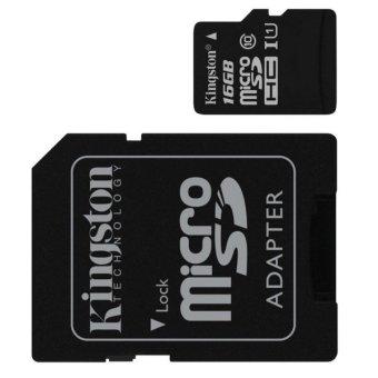 harga Kingston Kartu Memori Handphone MicroSD Kelas 4 untuk HP Samsung Galaxy/ Asus Zenfone/ Sony Xperia - 16GB - Hitam Lazada.co.id