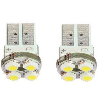 Okdeals 2 x T10 194 W5W 4 LED Pure White Car Wedge SMD SMT Bulb Light