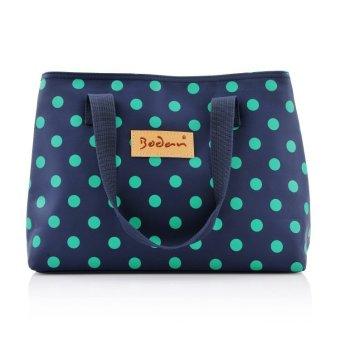 Cute Dot Comestic Bag Travel Toiletry Wash Bag (blue) - Intl