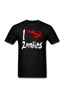 Men's I crossbow zombies Customize T-Shirt for Black - Intl