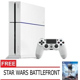 Sony PlayStation 4 500GB CUH-1206 - Glacier White + Gratis Star Wars Battlefront