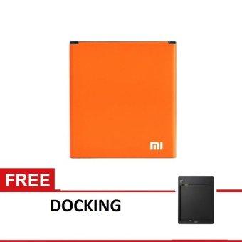 Xiaomi Battery Redmi 2 Original + Free Docking - Oranye terpercaya