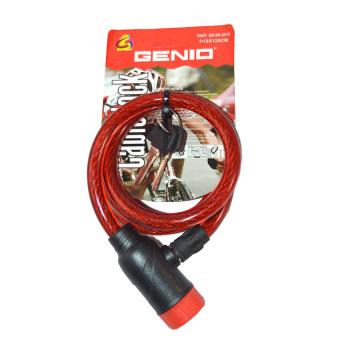 Genio Bike Lock / Kunci Spiral / Gembok Sepeda 130cm - Merah ...