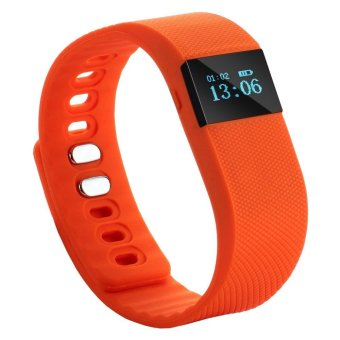TW64 Bluetooth Health Smart Bracelet Wristband Watch Pedometer Cell Phone Mate Orange with Sleep Monitoring Calorie Calculation Distance Measurement Waterproof (Intl)