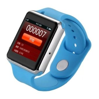 UA8 Scratch Resistant Smart Watch 1.54 inch Capacitive Touch Screen Watch Phone, Support 2.0MP Camera / Bluetooth V3.0 / GSM(Blue) - Intl