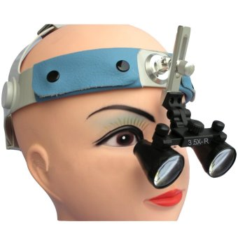 3.5x Magnification Spark Professional Dental Loupes with Comfortable Headband - Adjustable Pupil Distance Model #CM350HB (Intl)