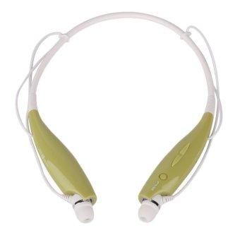 Bluetooth Wireless Headset Stereo Headphone Earphone Sport Handfree Universal(green) (Intl)