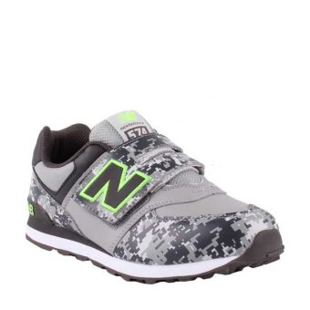 harga New Balance 574 Kids Shoes - Grey Camo Lazada.co.id