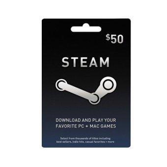 Valve Steam Wallet USD 50$ Digital Code