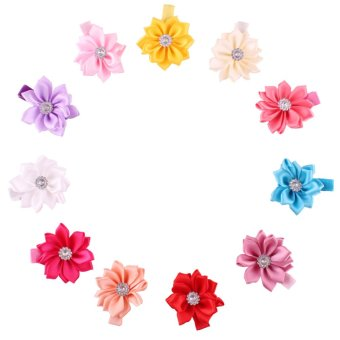 LFF Baby Girls Mini Flower Hair Accessories Beautiful Hair clips 11 Packed (Intl)